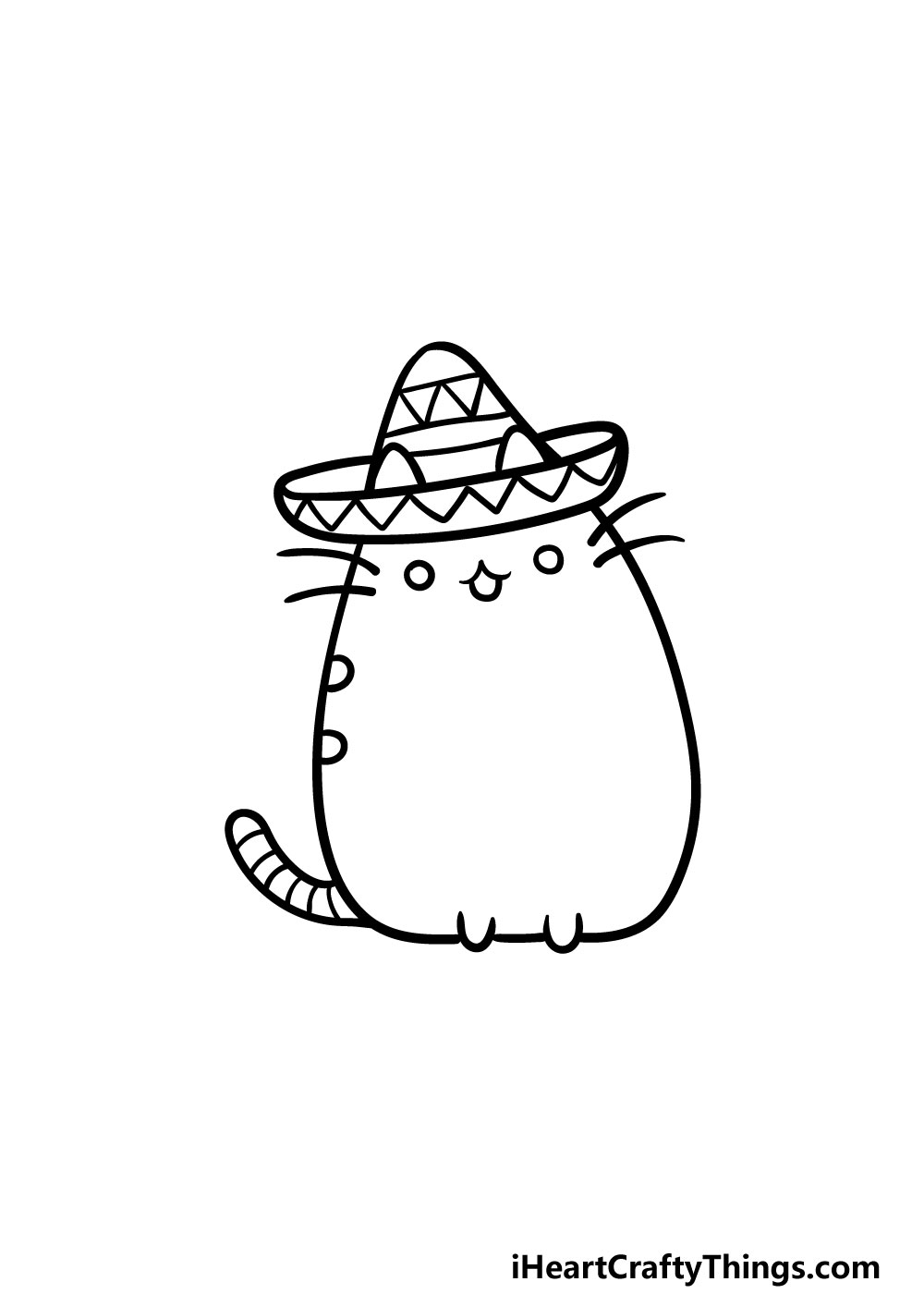 drawing pusheen cat step 5