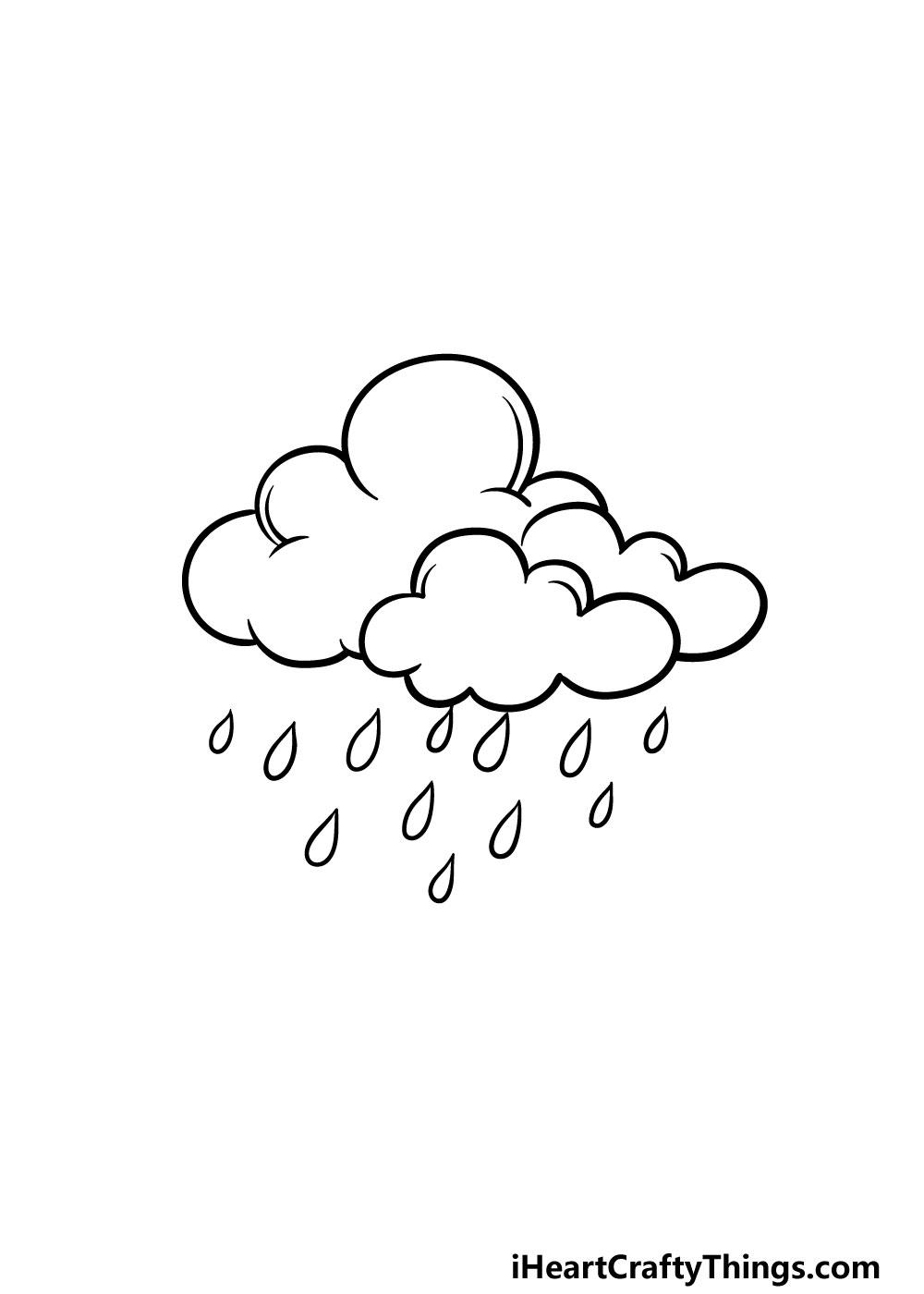 drawing rain step 5