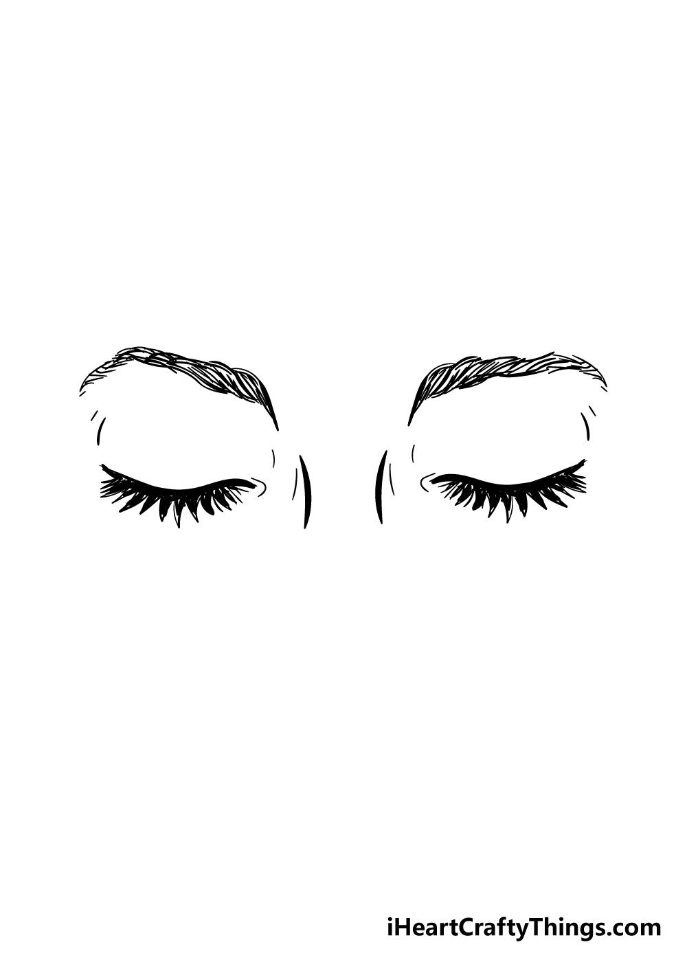 closed eyes drawing step 5