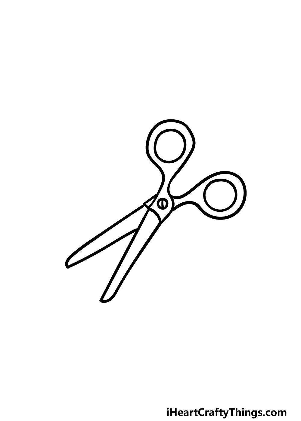 drawing scissors step 5