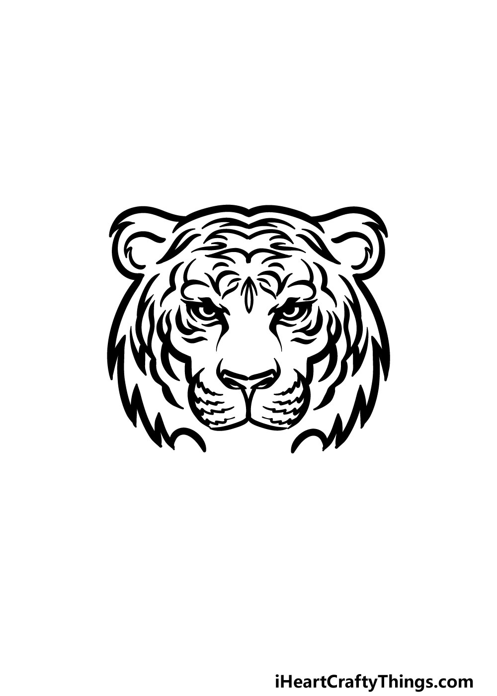 drawing tiger face step 5
