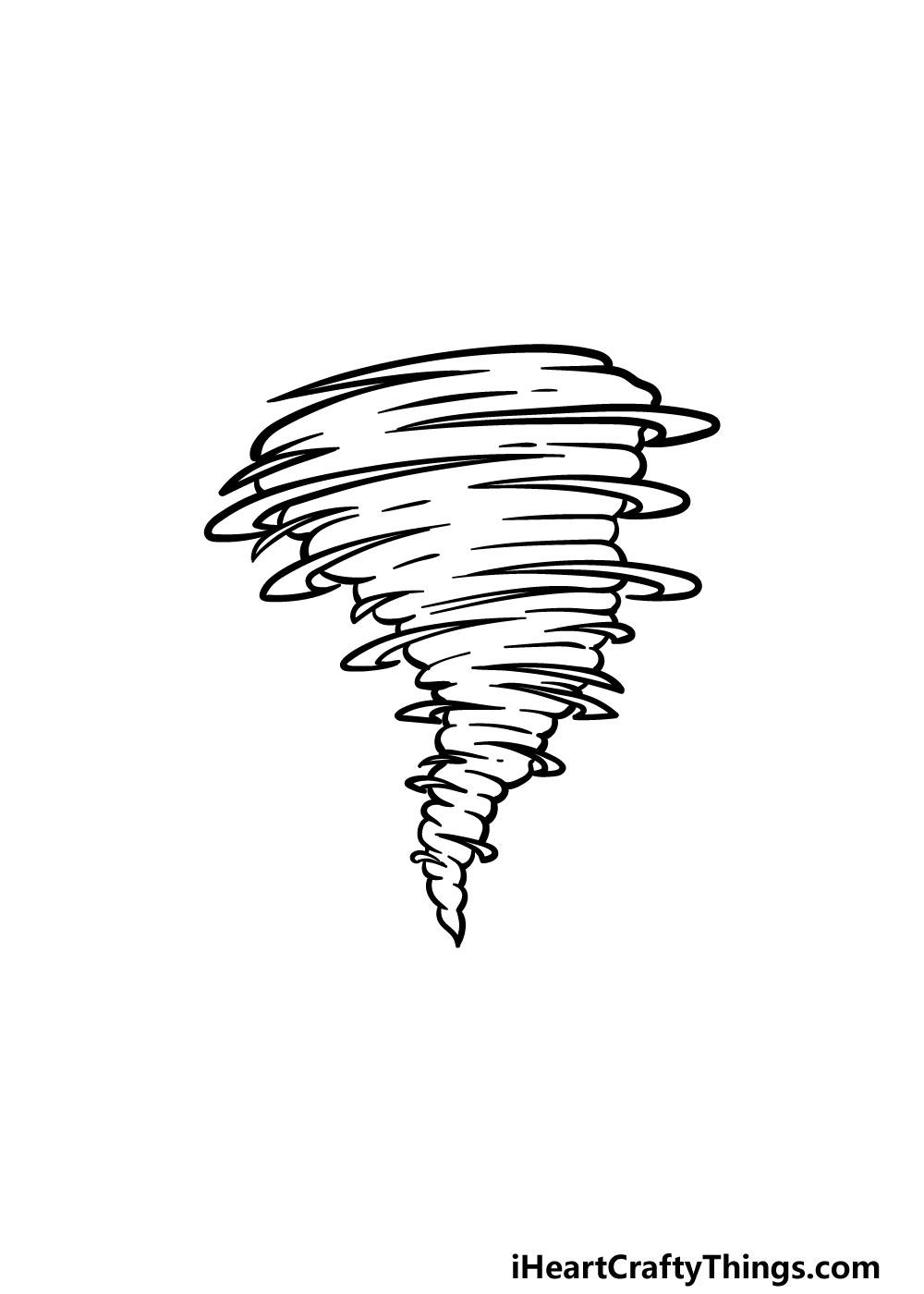 drawing a tornado step 5