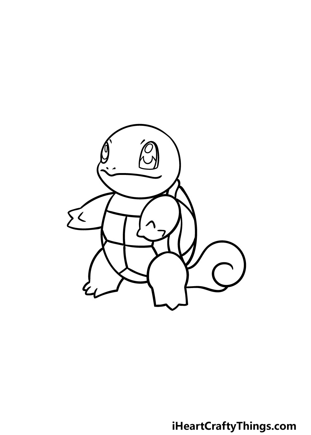 drawing squirtle step 5