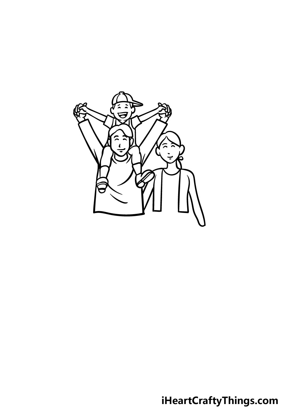 drawing a family step 5