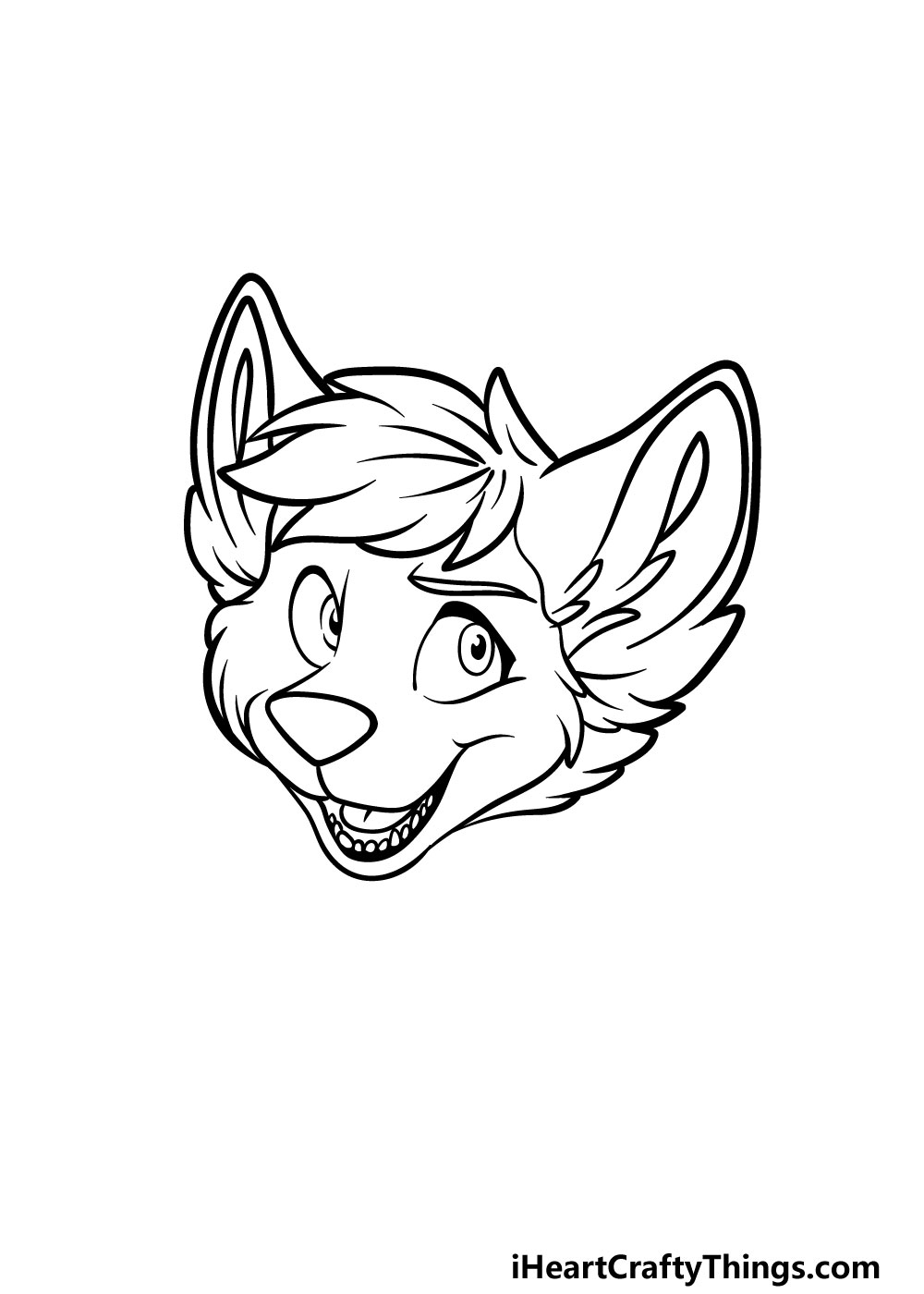 drawing a furry head step 5