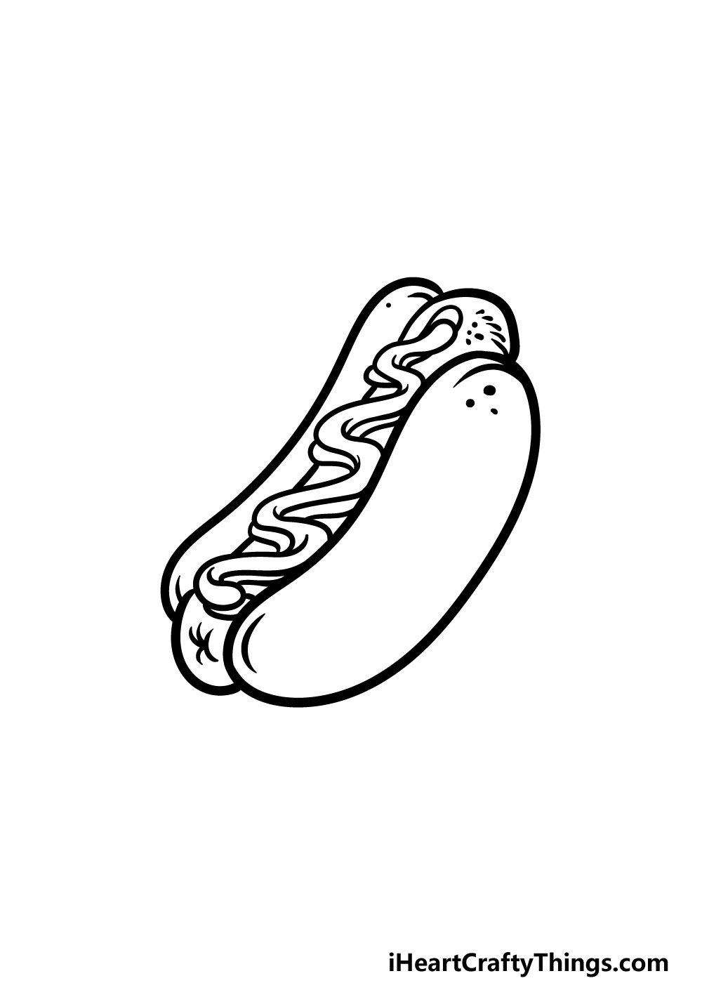 drawing a hotdog step 5