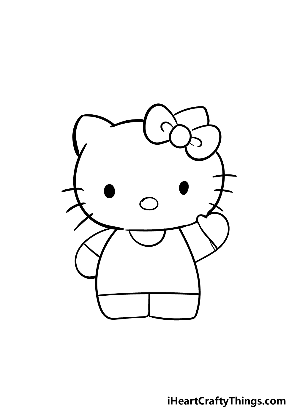 hello kitty drawing step 5