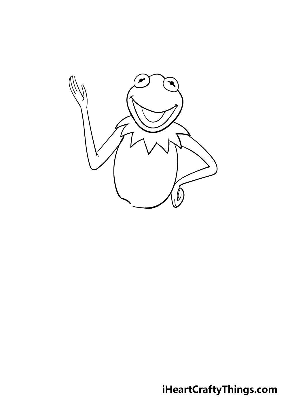 drawing Kermit the frog step 5