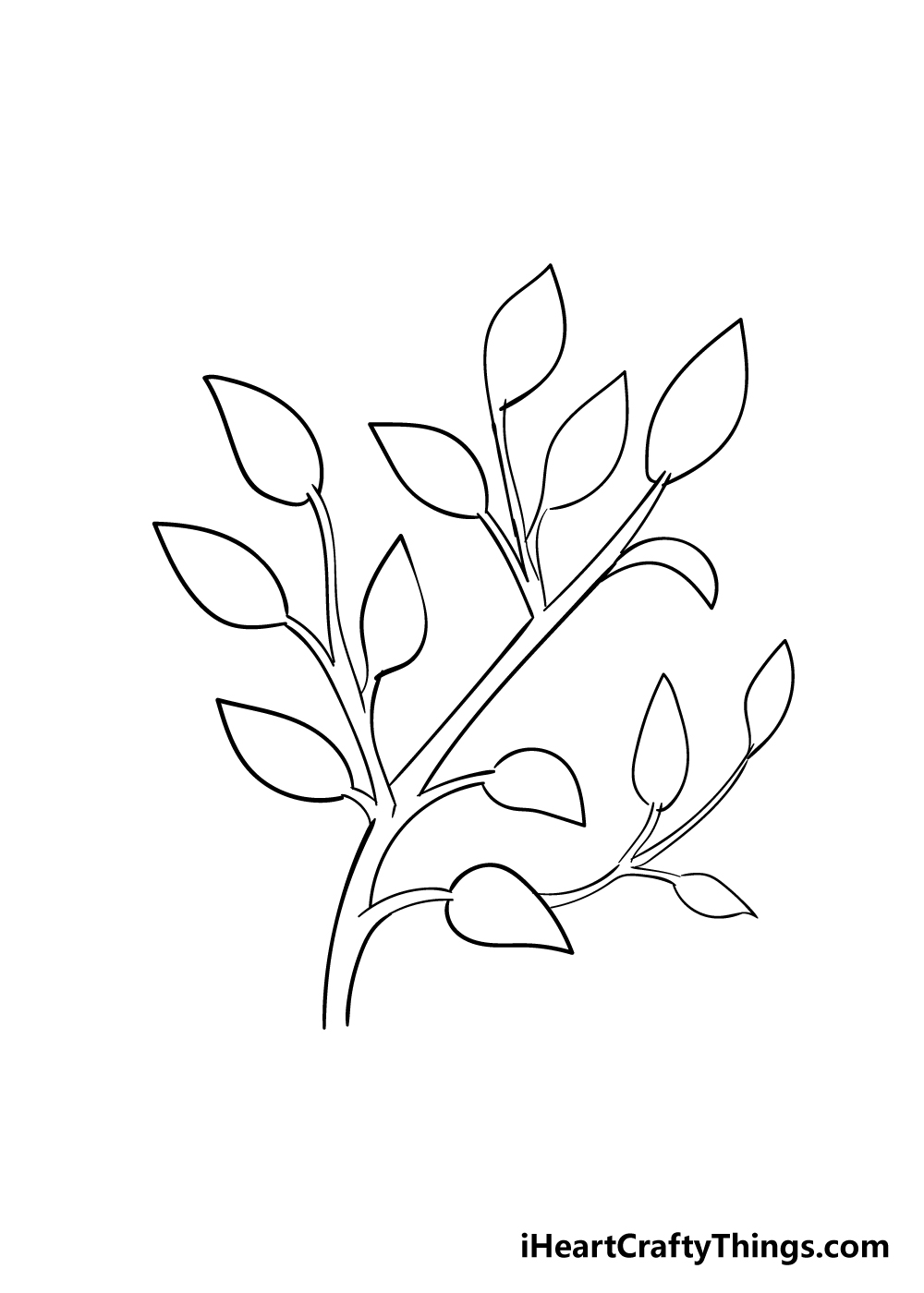 leaves on a tree drawing step 5