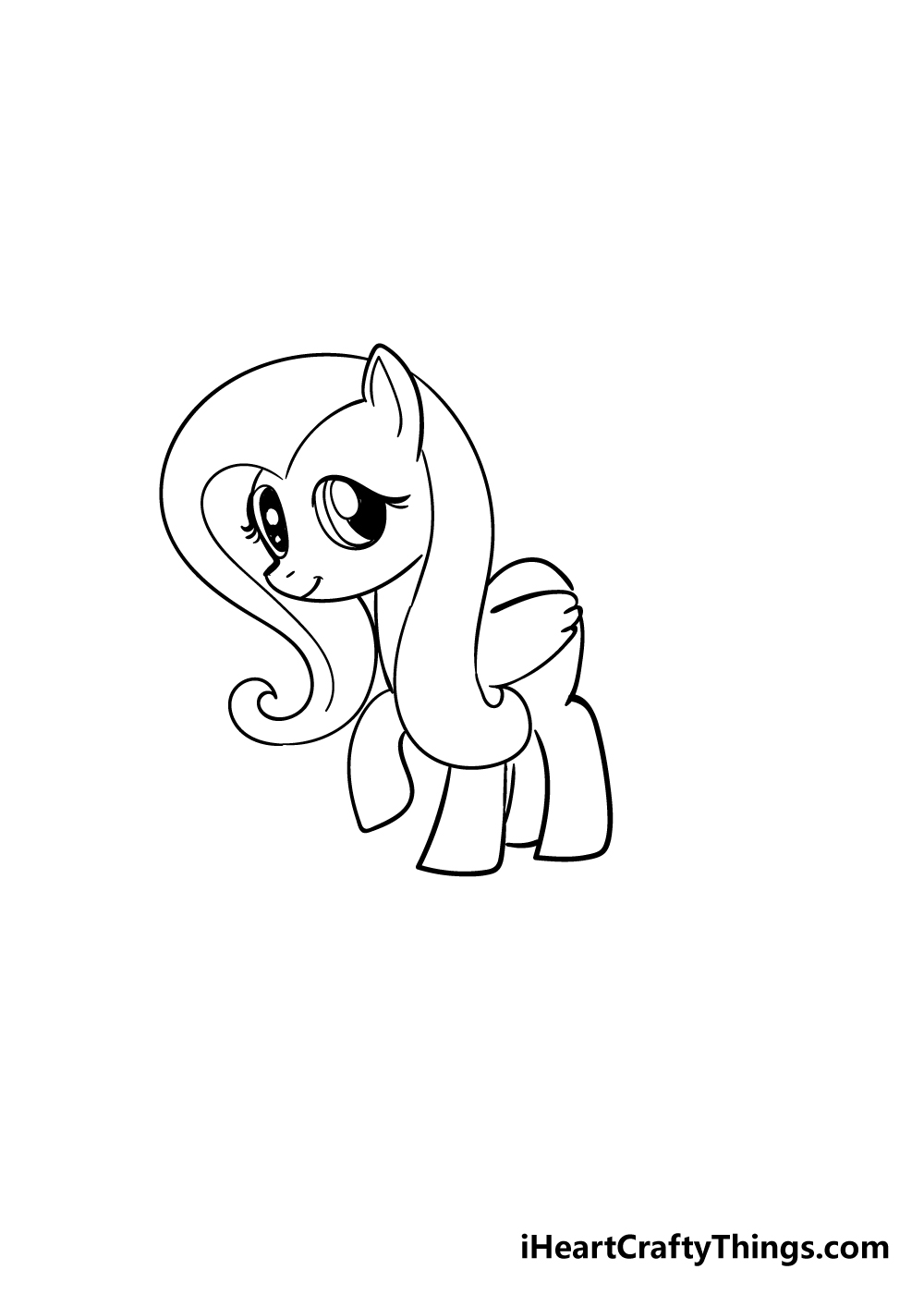 my little pony drawing step 5
