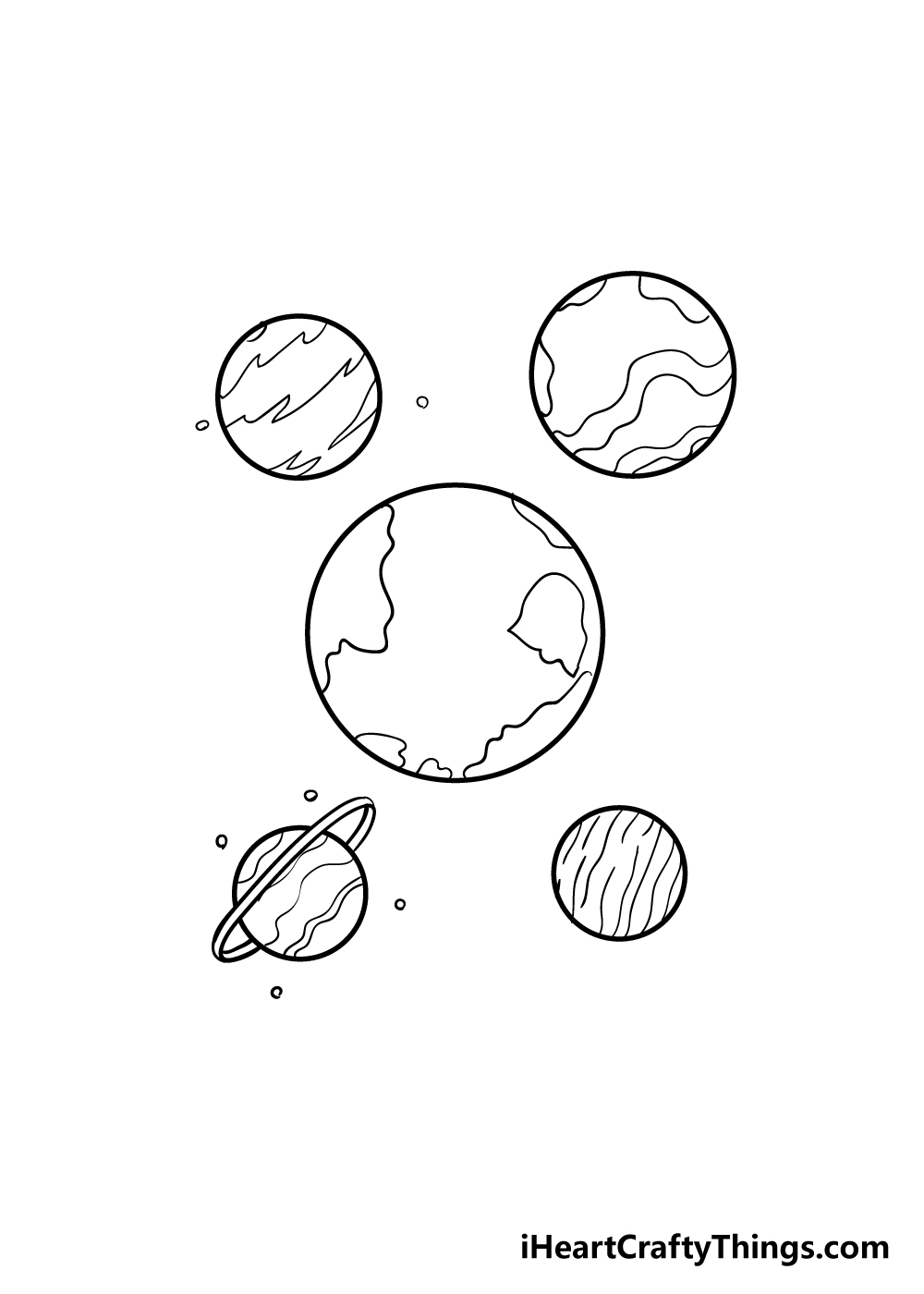 planets drawing step 5