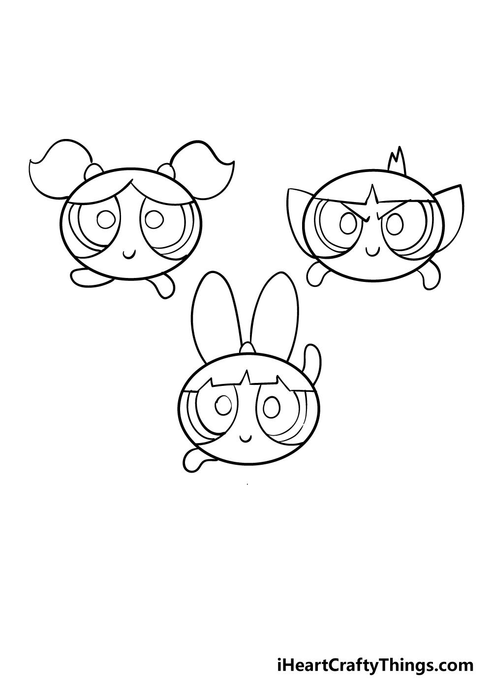 powerpuff girls drawing step 5