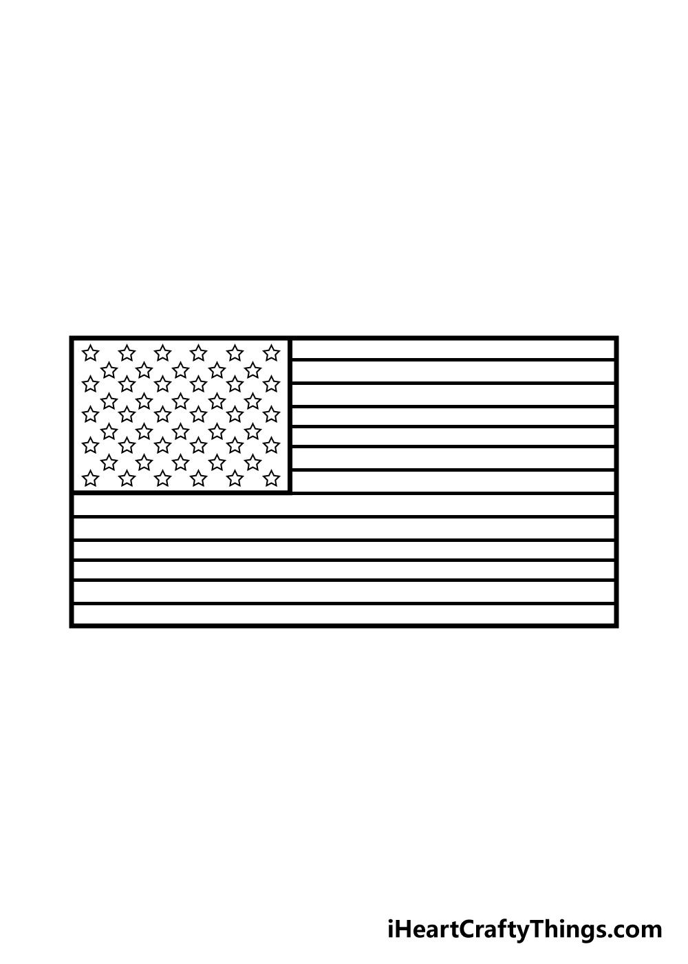 drawing american flag step 5