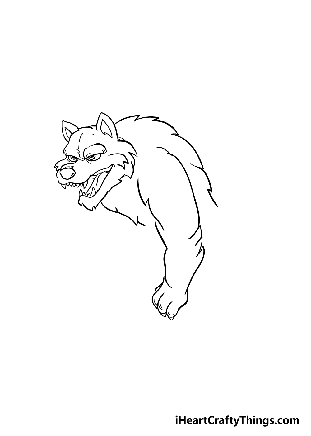 werewolf drawing step 5