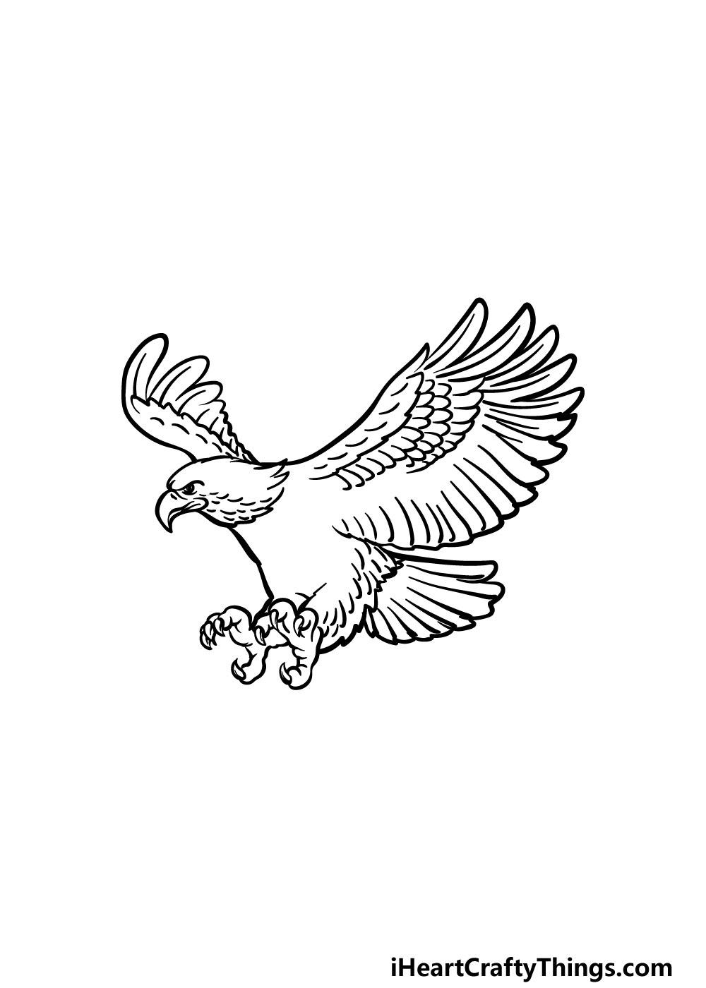 bald eagle drawing step 5