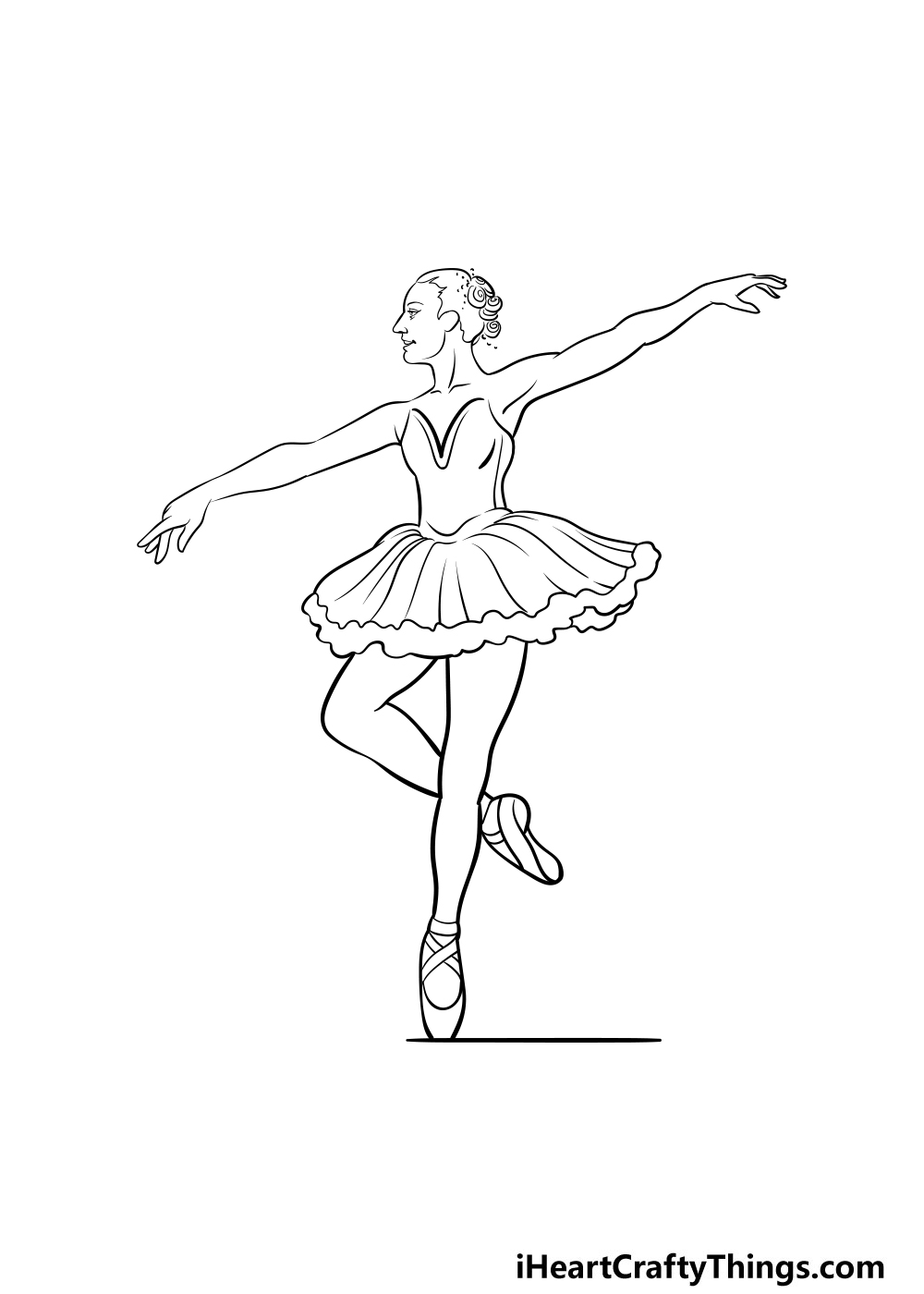 ballerina drawing step 5