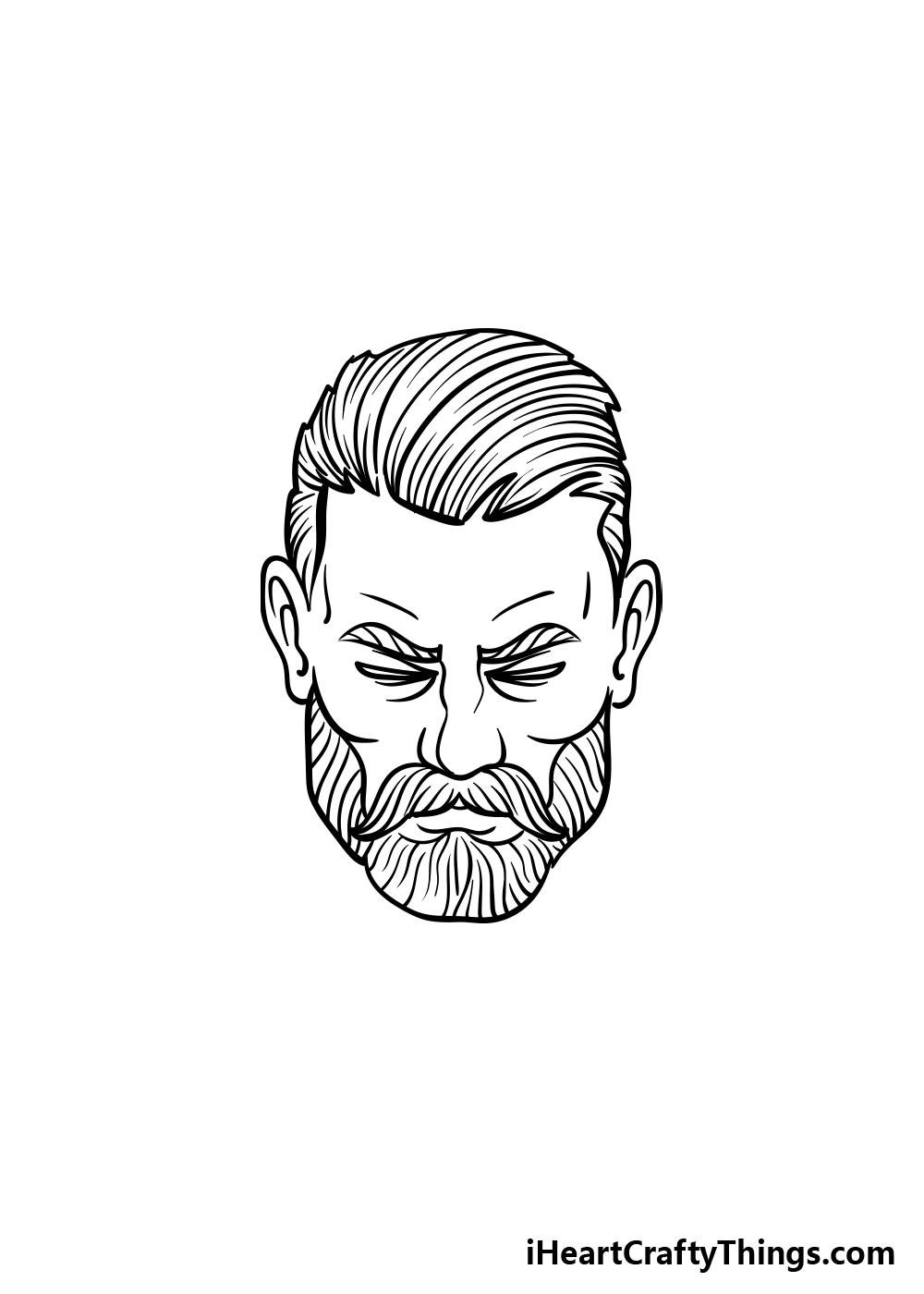 drawing a beard step 5