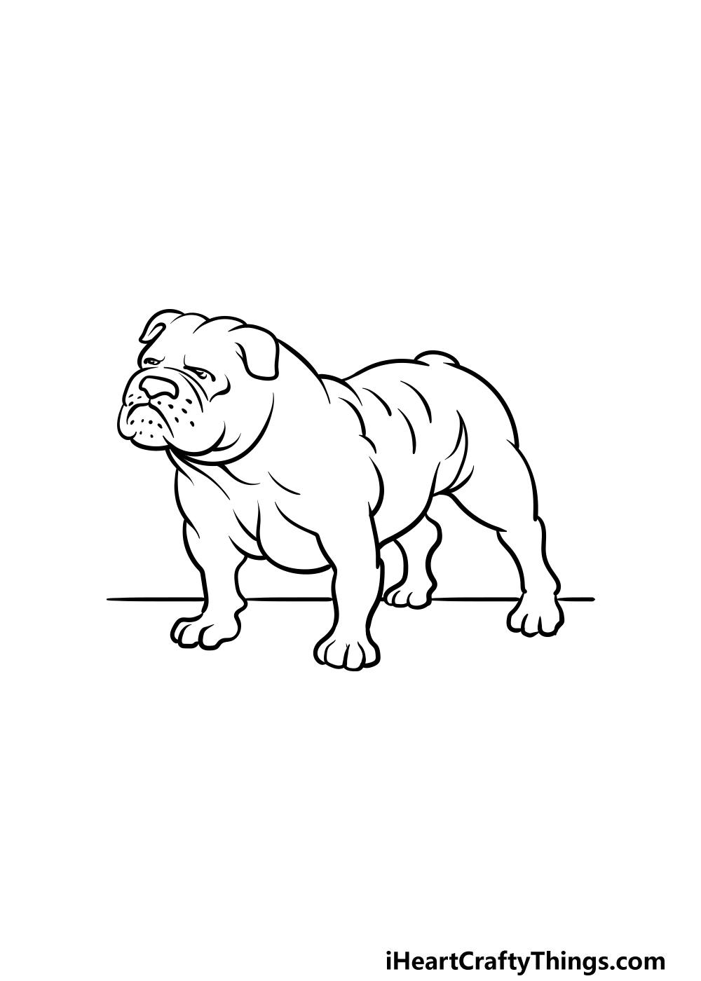drawing bulldog step 5