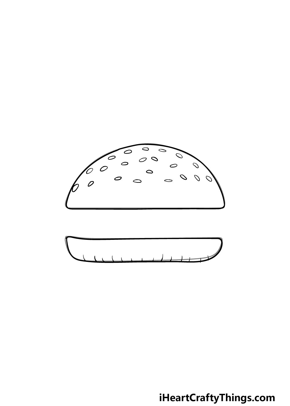 drawing a bun step 5