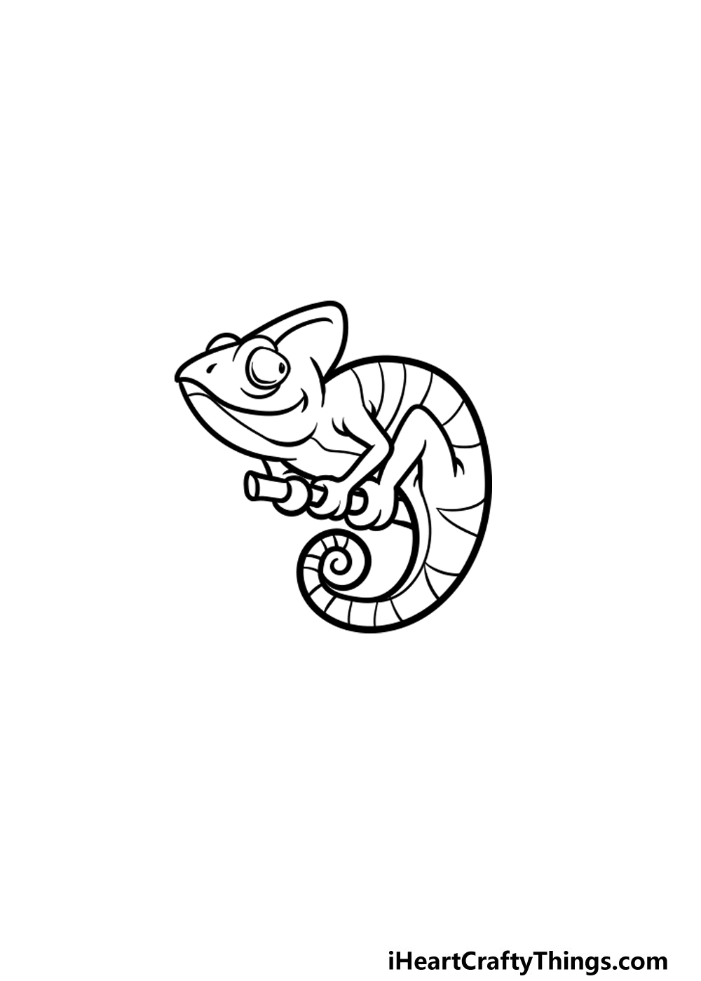 drawing a chameleon step 5