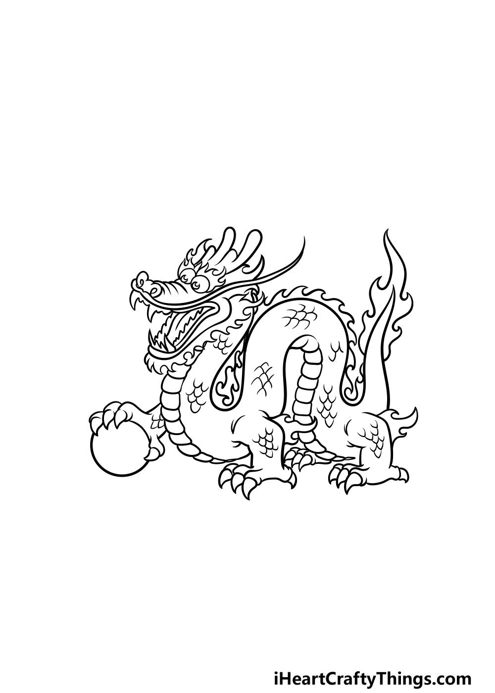 drawing Chinese dragon step 5