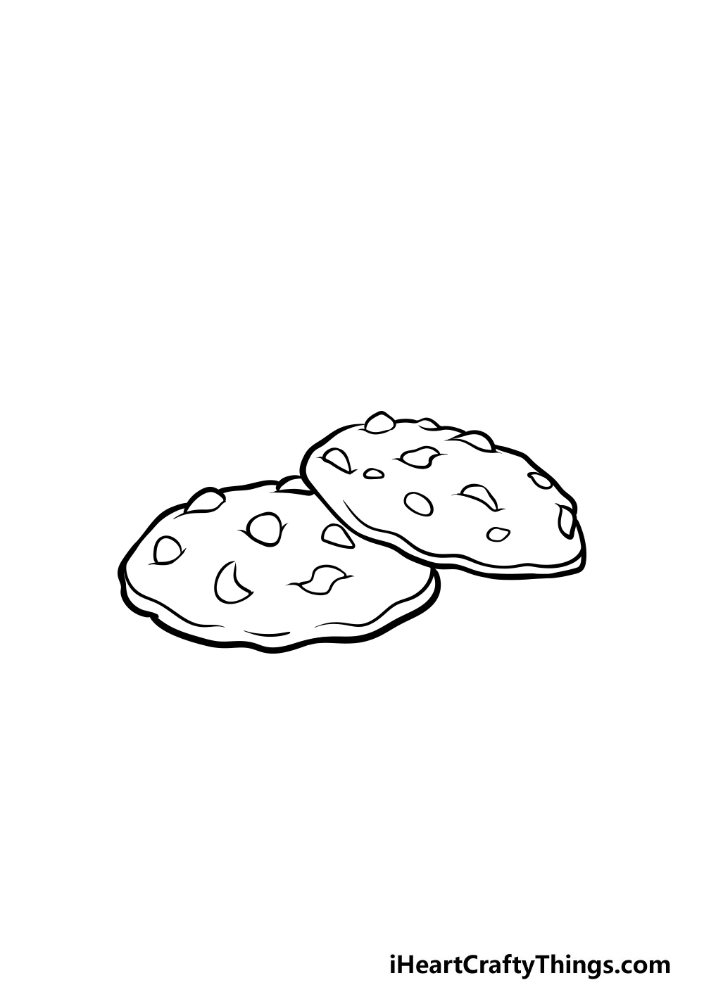 drawing a cookie step 5