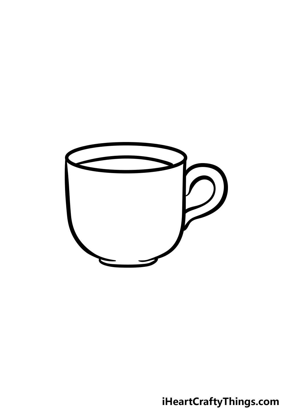 drawing a cup step 5