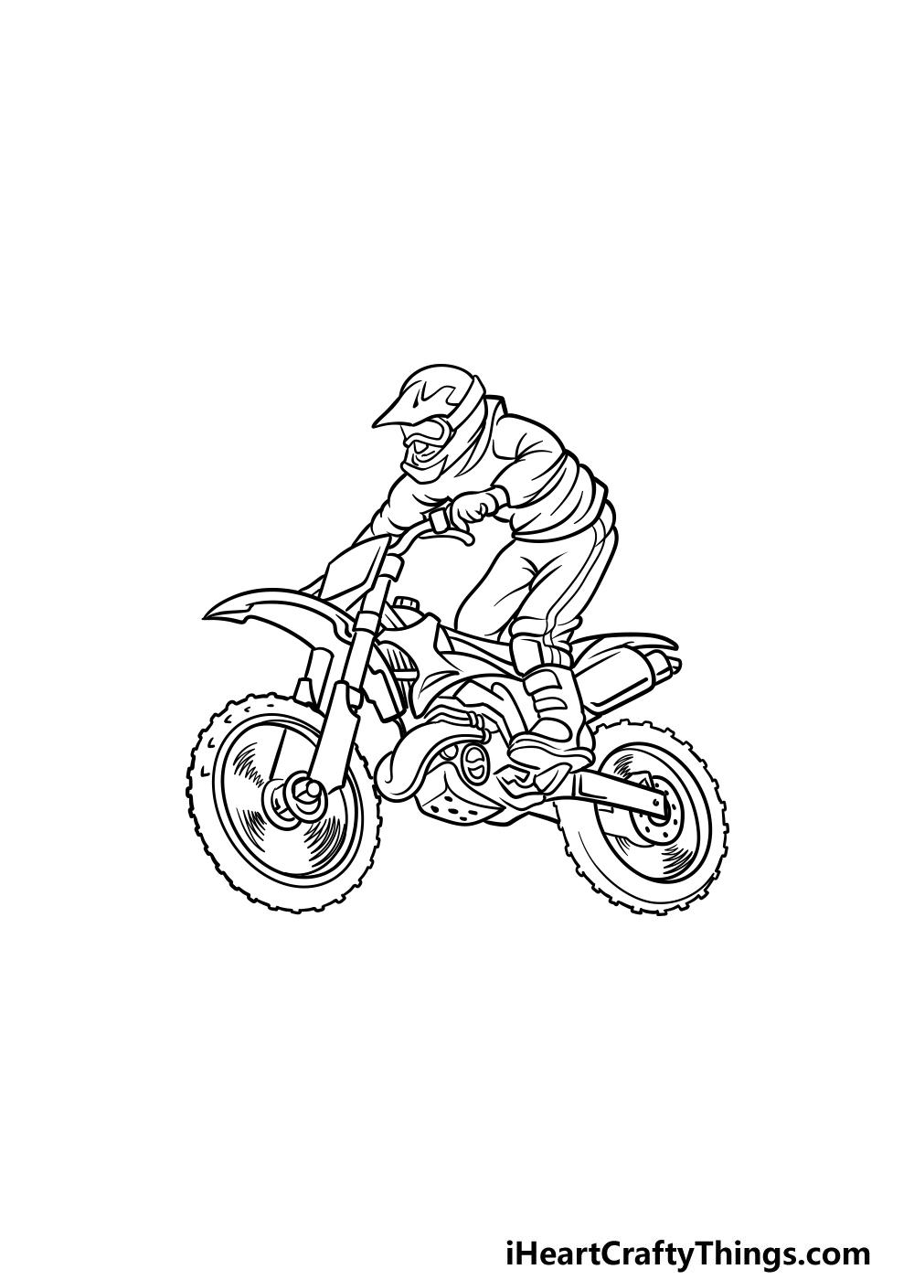 drawing a dirt bike step 5