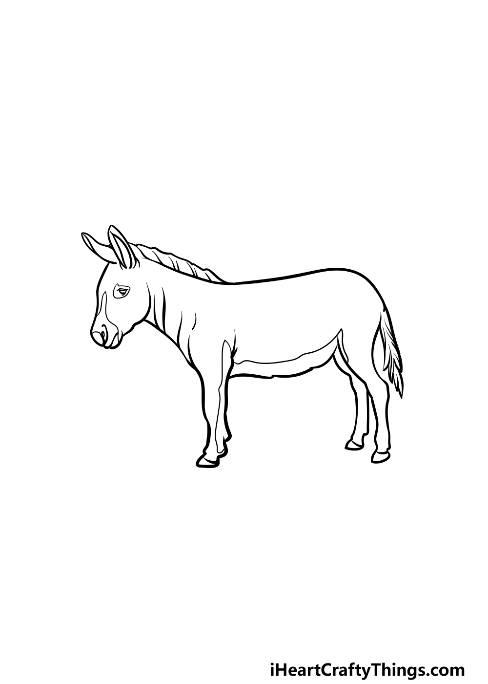 drawing a donkey step 5