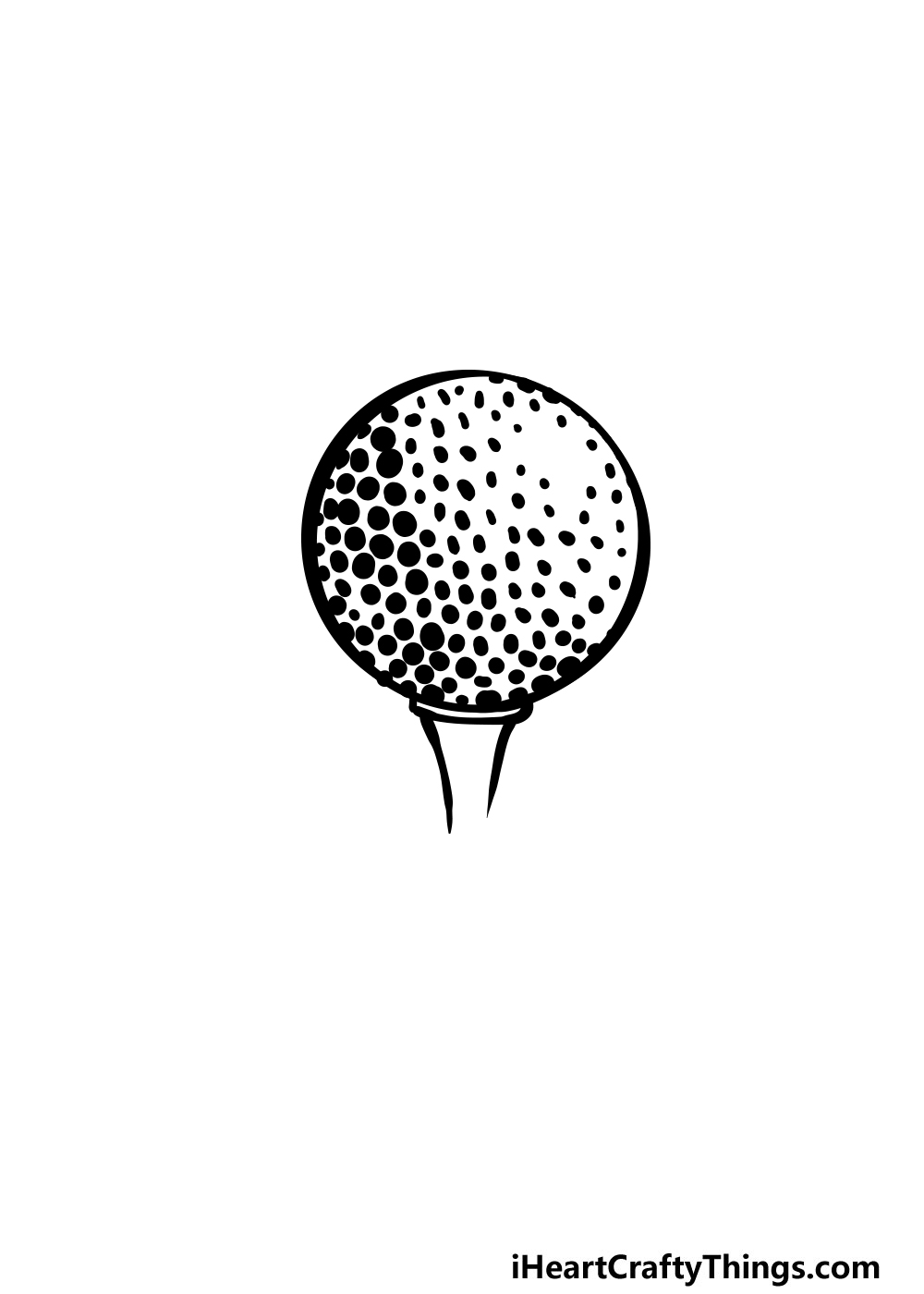 drawing a golf ball step 5