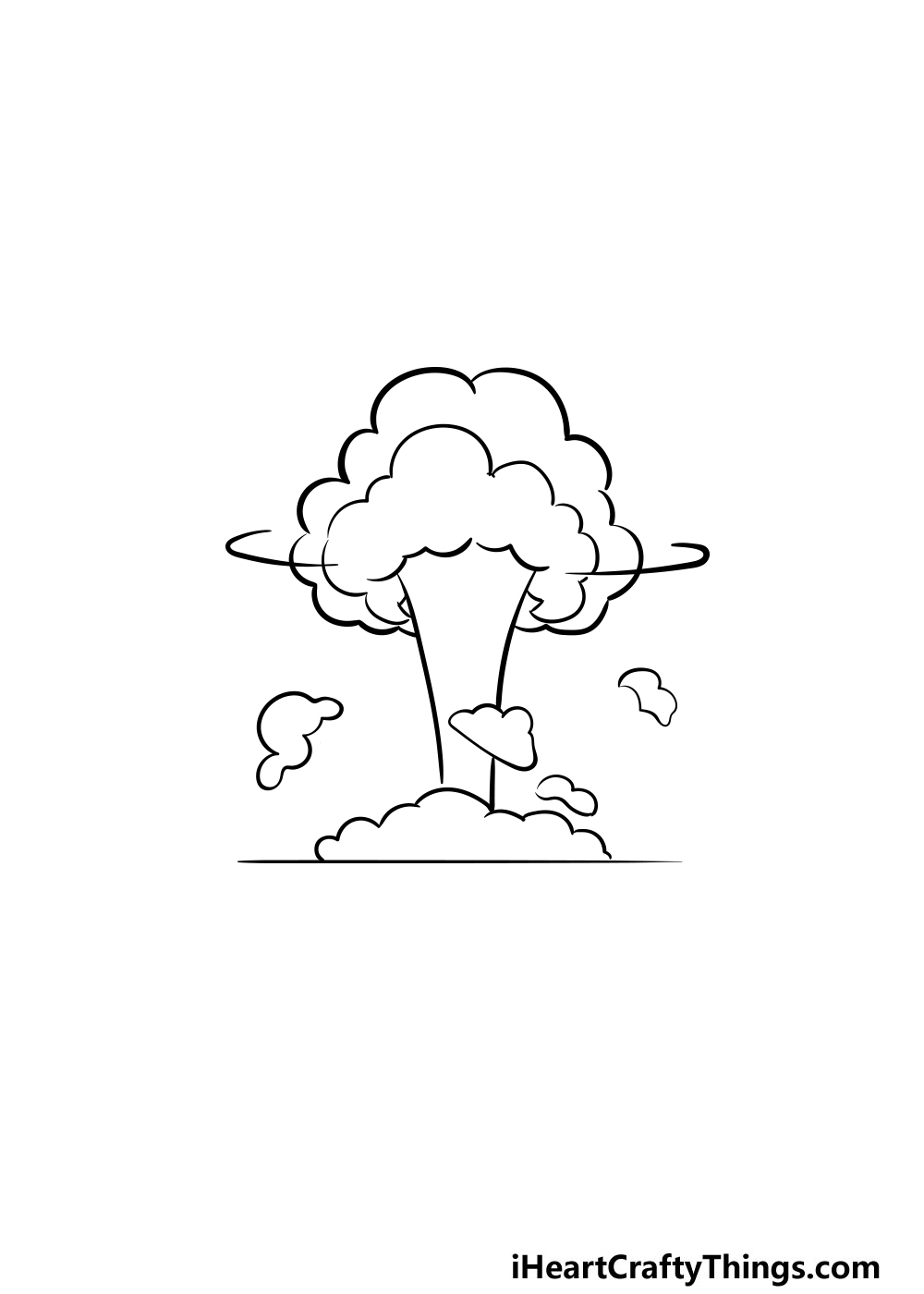 drawing an explosion step 5