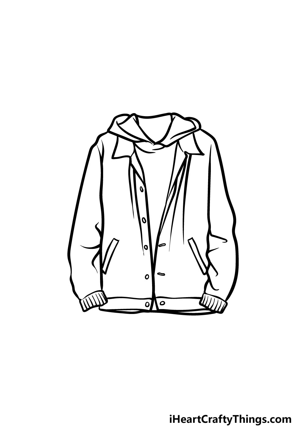 drawing a jacket step 5