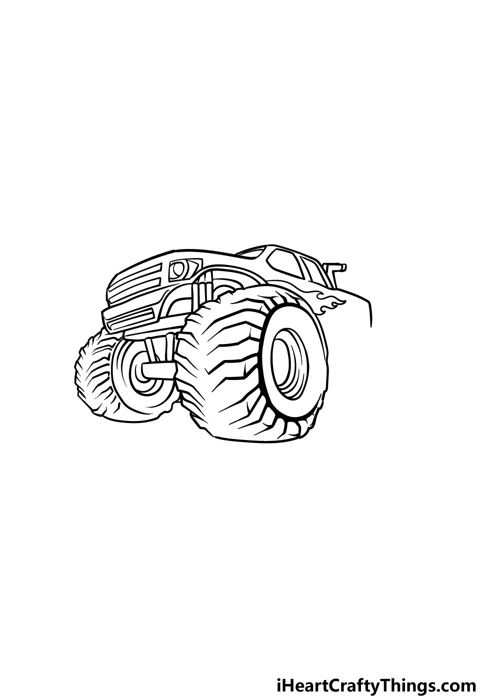 drawing a monster truck step 5