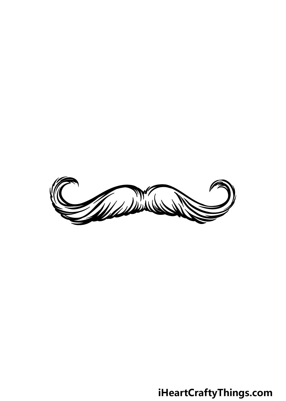 drawing a mustache step 5