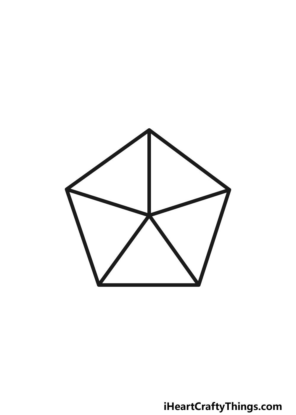 drawing a pentagon step 5