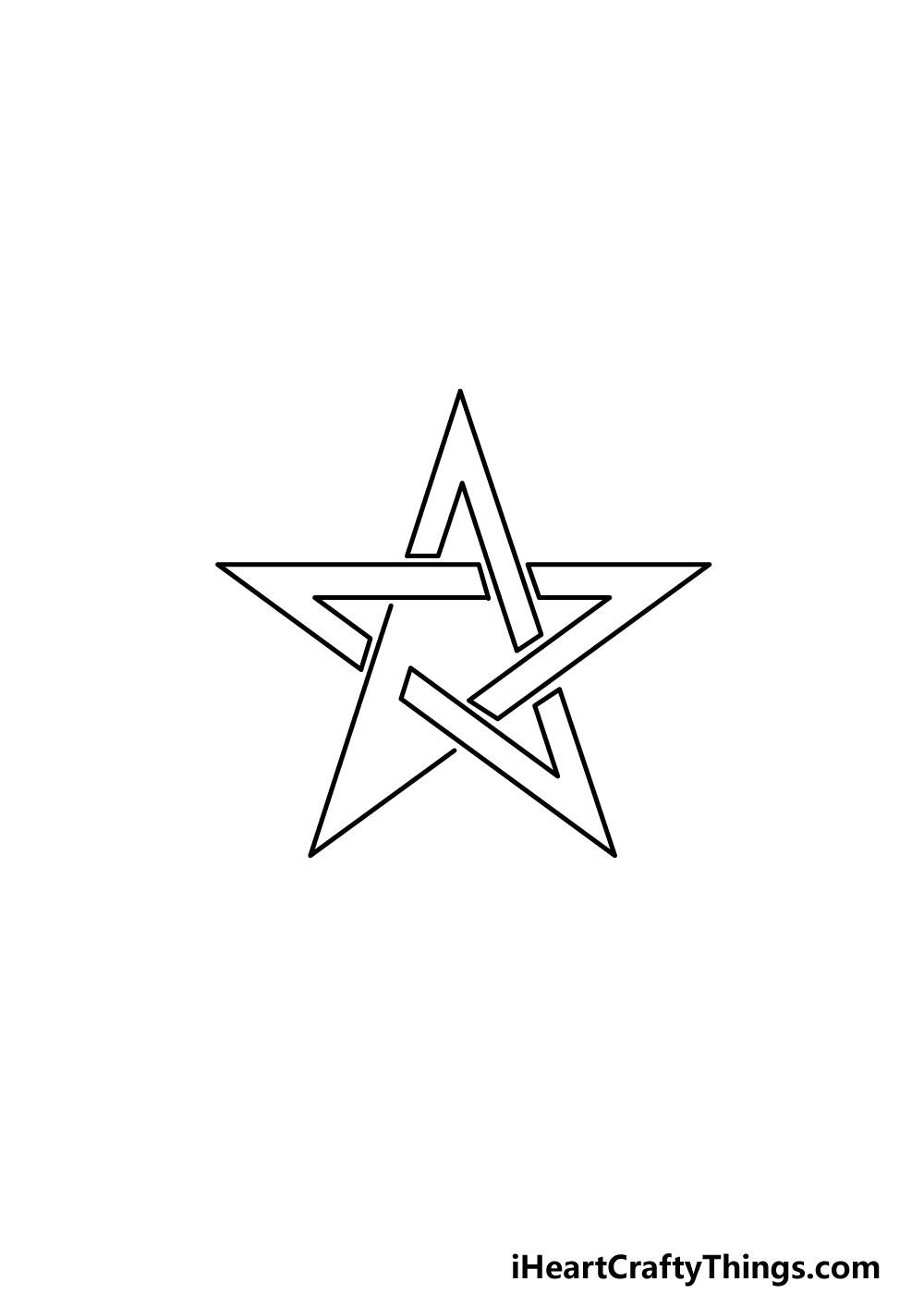 drawing a pentagram step 5