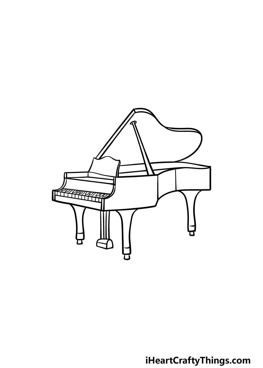 drawing a piano step 5