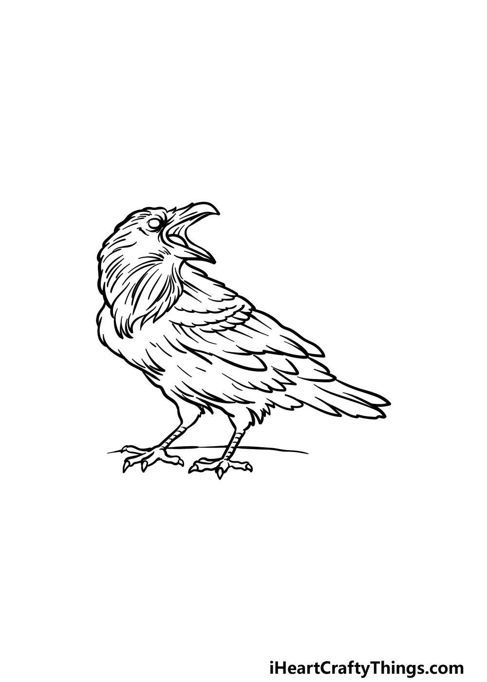 drawing a raven step 5