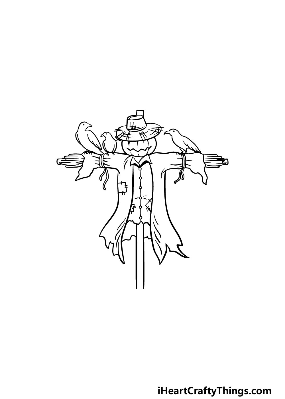 drawing a scarecrow step 5