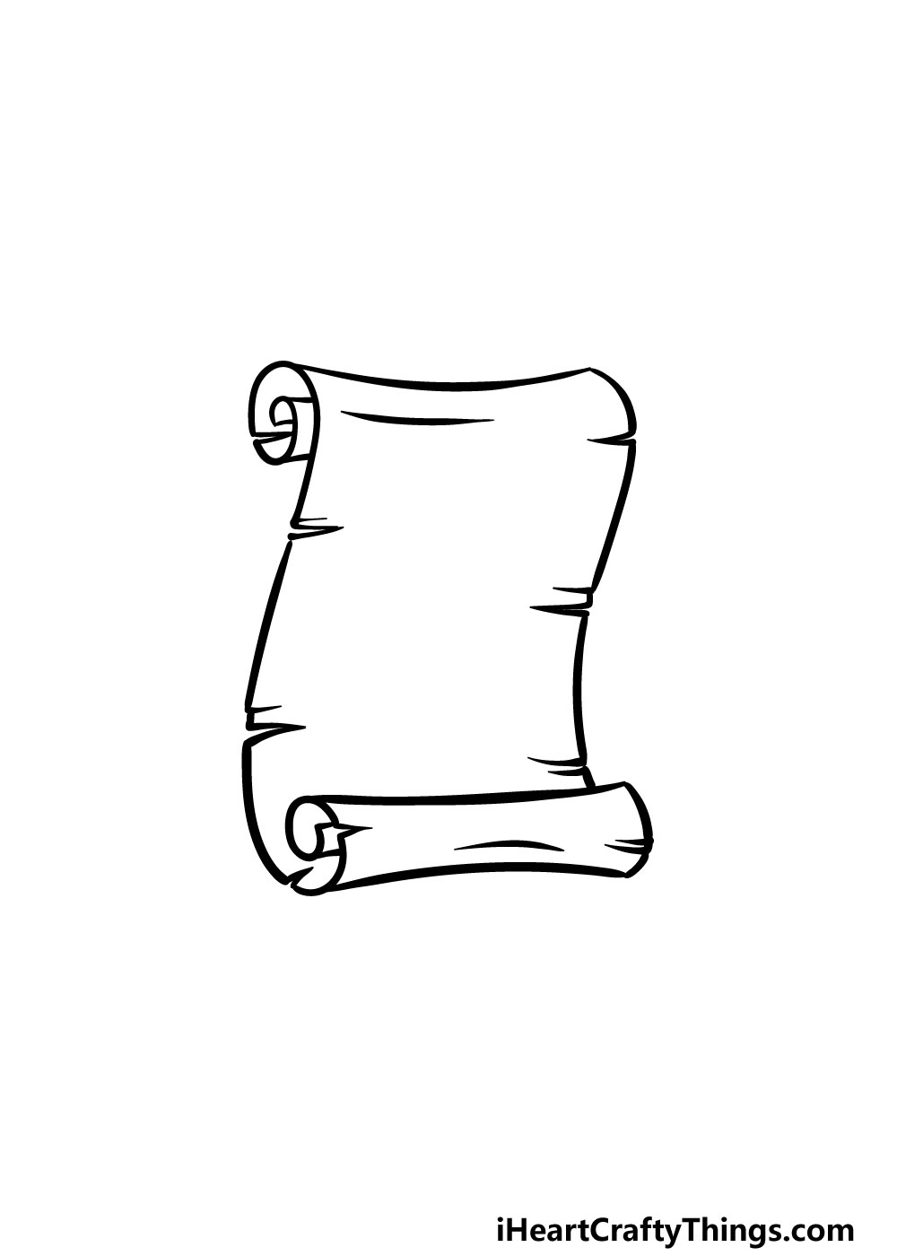 drawing a scroll step 5