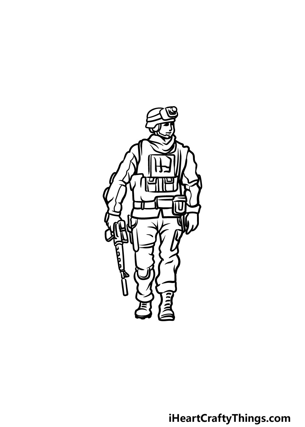 drawing a soldier step 5