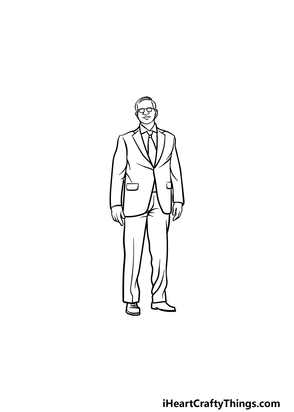 drawing a suit step 5