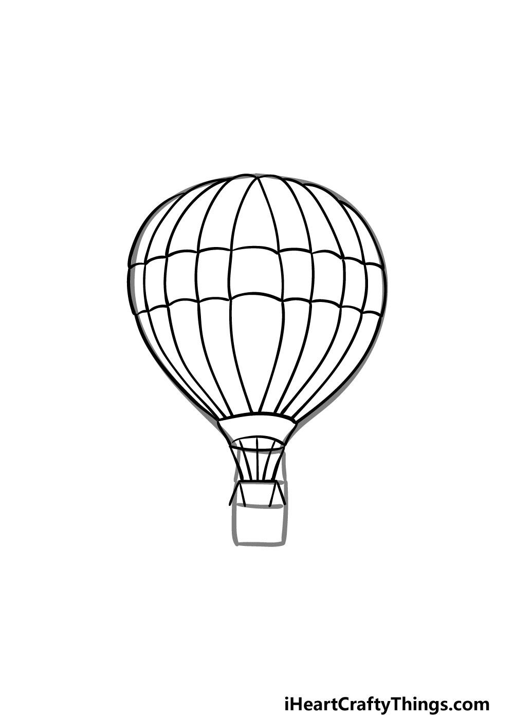 drawing a hot air balloon step 5