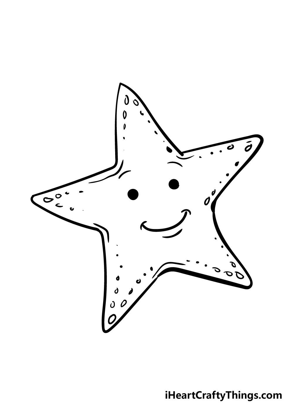 vẽ một con sao biển bước 5