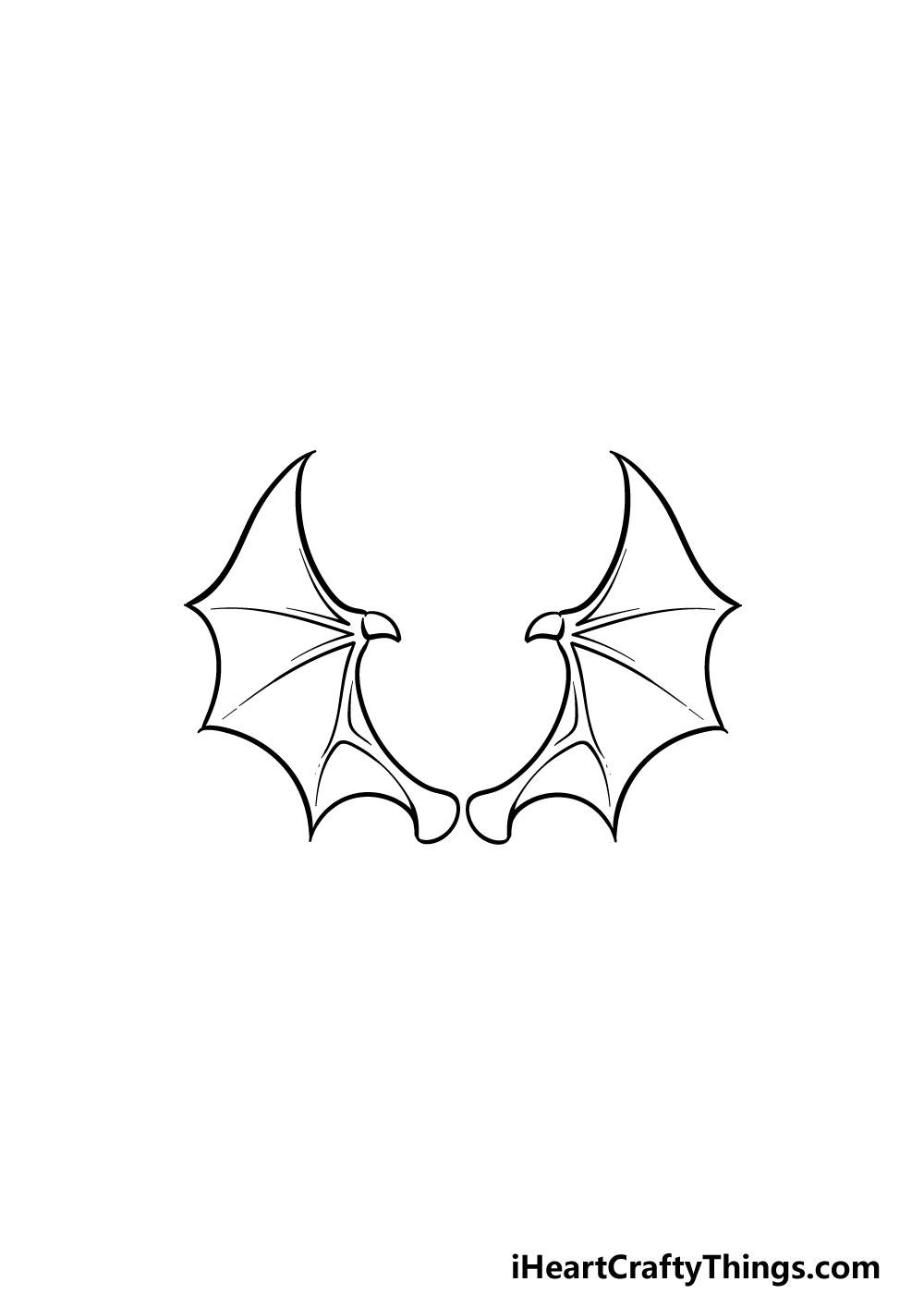 drawing dragon wings step 5