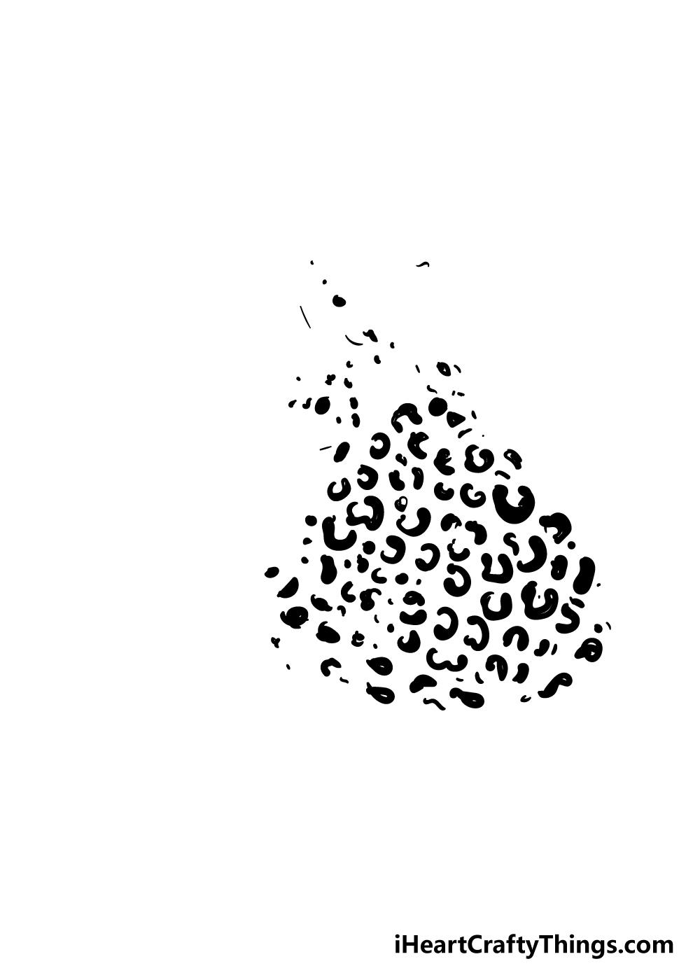 cheetah print drawing step 5