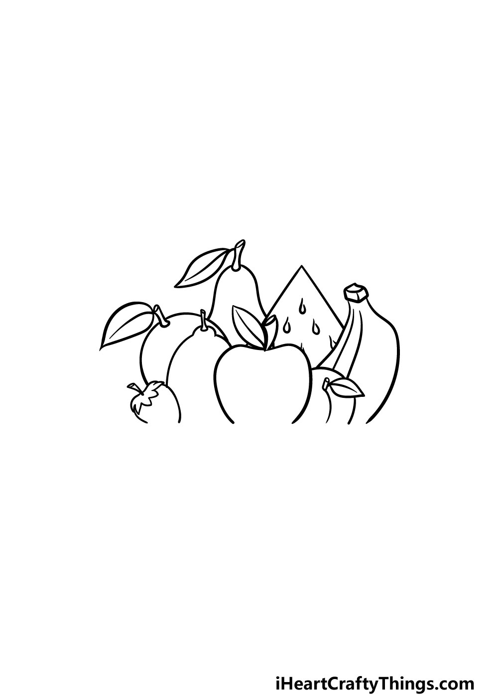 drawing fruits step 5