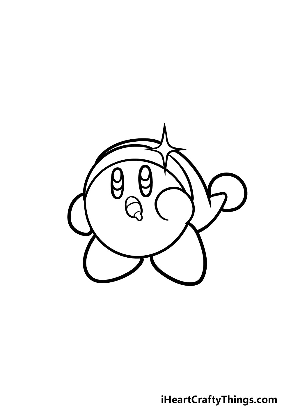 drawing kirby step 5