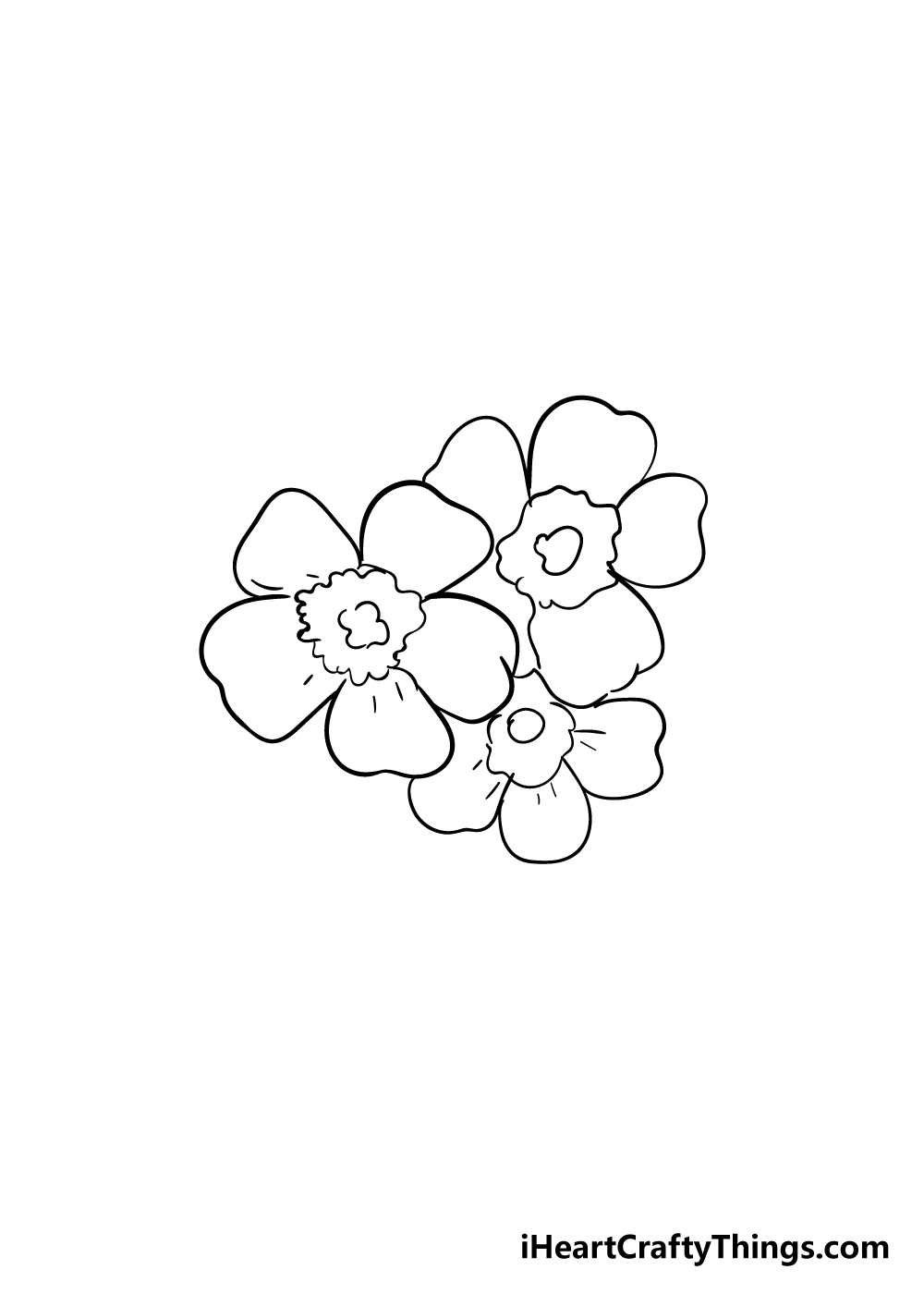 cherry blossoms drawing step 6