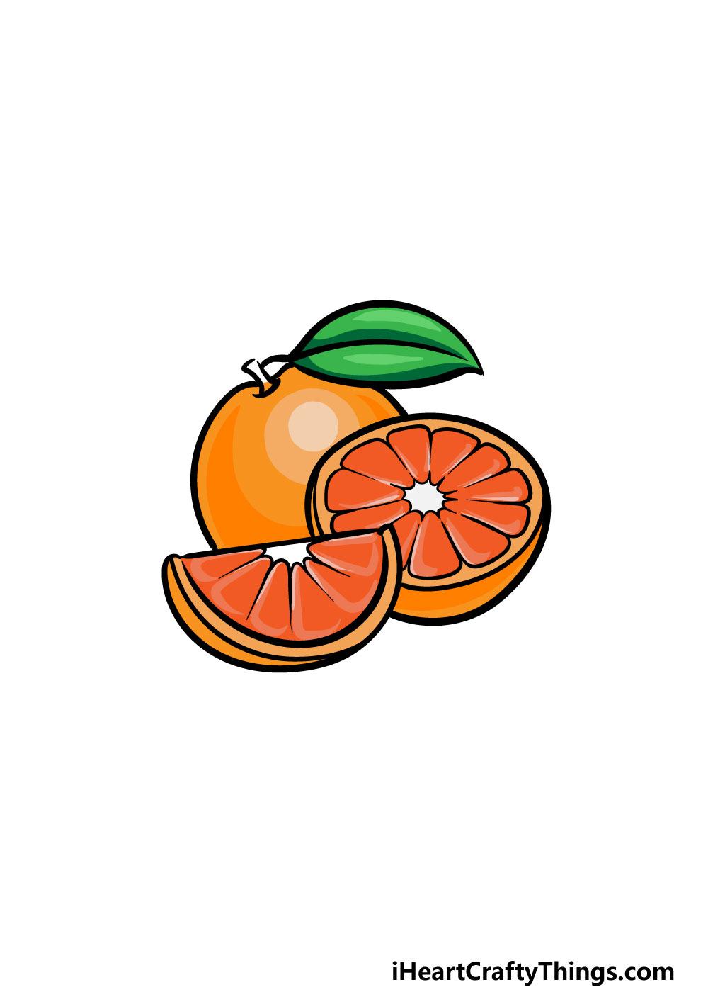 drawing oranges step 6